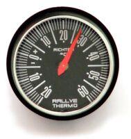 Historisches Rally KFZ Auto Thermometer aus 1984 mit Halter RICHTER HR Art. 4660