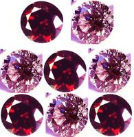 LOT DIAMANT NATUREL ROSE POURPRE&ROUGE CERISE 0.05 CT. VRAC 2.30 mm. ROND