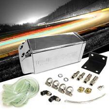 NRG ALUMINUM SQUARE ENGINE VALVE OIL CATCH RESERVOIR BREATHER TANK//CAN CHROME
