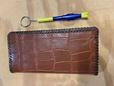 """Oil Field Gator Embossed Leather Pipe Tally Book Cover 8.75"""" x 4"""" ( Ggg )"""