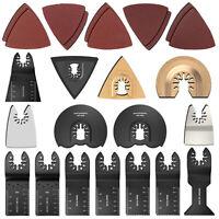 25 PCS Saw Blades Oscillating Multi Tool Accessories Kit For Fein Bosch Dremel