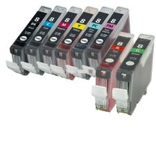 8PK CLI-8 Ink Set w/ Red & Green for Canon PIXMA Pro6000 Pro6500 Pro9000 Mark II