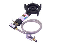 2 Ring LPG Gas Burner Cast Iron Cooker with Hose + Regulator BBQ Camp Stove Wok