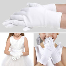 1Pair Kids Girls White Performance Gloves Wedding Dance Party Gloves Mittens US