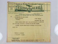 Tropical Radio Telegraph Company RadioGrama Letterhead 1947 About Tennis Courts