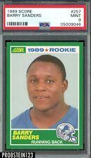 1989 Score #257 Barry Sanders RC Rookie HOF Lions PSA 9 MINT
