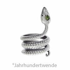 Vintage Silber Schlangen Fingerring Paste Serpentina silver snake ring 🍀🍀🍀