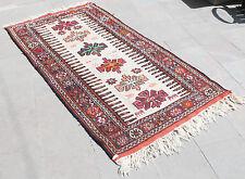 Turkish Kilim Rug 41''x78'&# 039; Hand Woven East Anatolian Kilim 106x200cm
