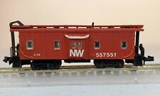 Repainted Con-Cor N scale Norfolk + Western bay window Caboose - NW 557551