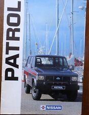 CATALOGUE PROSPECTUS PUBLICITAIRE 4X4 NISSAN PATROL 1990 OFF ROAD