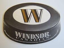 Beer Breweriana Coaster ~*~ WINDSOR Canadian Supreme Blended Whisky ~*~ ILLINOIS