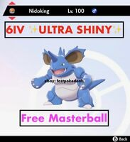 -Pokemon Sword and Shield- ✨Ultra Shiny✨ 6IV Nidoking FAST DELIVERY