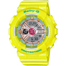 Casio G-Shock Women's BA110CA-9A Baby-G Neo Pastel Yellow Resin 46mm Watch