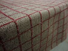 PAOLO CHECK / PLAID DESIGNER CURTAIN / UPHOLSTERY FABRIC