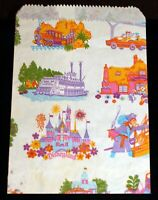 Disneyland Paper Shopping Bag 1986 Walt Disney Productions Haunted Mansion