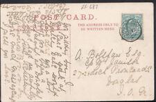 Genealogy Postcard - Bolshaw or Belshaw / Ja?mison - Douglas, Isle of Man RF687