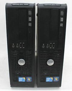 DELL OptiPlex 780 Intel.C 2 Duo E8400 3GHz 4GB RAM No HDD Computer Desktops 2x