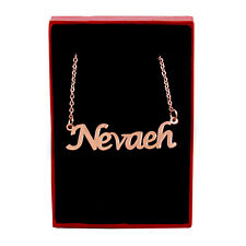 NEVAEH Name Necklace Stainless Steel / 18ct Rose Gold Plated | Jewellery Gifts