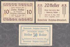 Helpfau-Uttendorf (OÖ) -Gemeinde- 10, 20 und 50 Heller (JP 365 II)