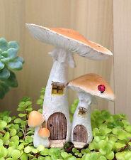 Miniature Dollhouse FAIRY GARDEN ~ Natural Mushroom Houses with Pick ~ NEW