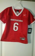 Nike Rutgers Football Jersey #6 Youth size 6 New with Tags