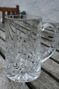 Lead crystal pint tankard. No mark but great quality 5.5 inches tall