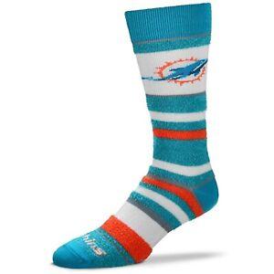 Miami Dolphins Women's Soft Stripe Crew-Length Socks