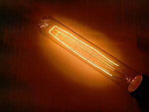 "Simple Vintage T30 Tube Style Edison Light Bulb E26 40W 120V CLEAR 7"" 185 mm"