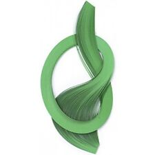 3mm QUILLING PAPERS IN GREEN 100 in TOTAL 450mm LONG ACID FREE AP20B