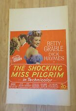 1947 The SHOCKING MISS PILGRIM Betty Grable Dick Haymes Litho Movie Poster