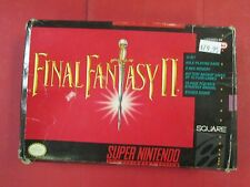Final fantasy II snes with original box and map and instructions