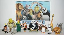 Dreamworks Figure Set of 12 with Madagascar, Shrek and Kung Fu Panda Figures!
