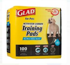 New listing Glad Activated Carbon Training Pads for Pets. 100 Ct 23 x 23 inch Open Package