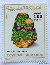 MAROC Yt 874 Timbre neuf Roches minérales - Malachite-azurite