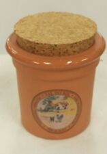 Terracotta Salt Pig Val do Sol Cork Lid Portugal Salt Crock Spice Jar