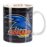 AFL Coffee Mug - Adelaide Crows - Team Song Drinking Cup - Gift Box - BNWT