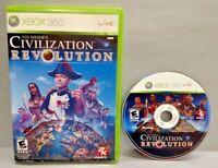 Sid Meier's Civilization Revolution  - Microsoft Xbox 360 Game Rare Tested!