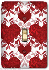 Red Heart Pattern Love Metal Single Light Switch Plate Cover Home Decor 251
