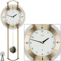 AMS Radio-piloté Horloge de pendule horloge murale à facettes verre minéral