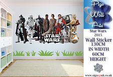 Star Wars Pared Adhesivo Niños Dormitorio Pared Calcomanía XX Grande.