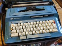 SMITH CORONA STERLING AUTOMATIC 12 TOUCH TEAL BLUE ELECTRIC TYPEWRITER MCM VTG