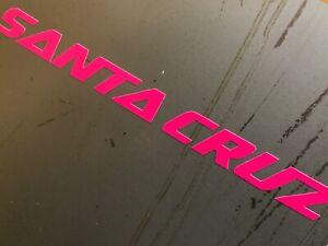 Santa Cruz Bikes NEON Stickers Decal Logo die cut vinyl MTB Downhill Camper VAN