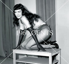 1950s NUDE 8X10 PHOTO BUSTY NICE ASS PINUP BETTIE PAGE FROM ORIGINAL NEG-10