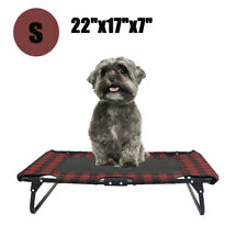 small Dog Bed Elevated Outdoor Raised Pet Cot Indoor Durable Steel Frame New