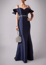 Mascara Beautiful navy blue Beaded Straps Long Even Gown Size 6