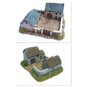 6mm wargame buildings. 2 x Farmstead Buildings Set - 6mm Wargaming