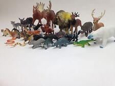 NEW 30 PCS TOYS SET NORTH AMERICAN ANIMALS WILDLIFE EDUCATIONAL FIGURES SAFARI