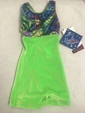 Motionwear Green Velvet Gymnastics Biketard Child XS 2-3, NWT