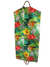 ACCESSORIES UNLIMITED vintage garment bag 1990s Tropical floral USA made jungle