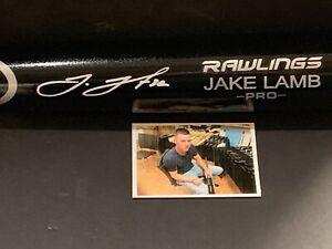 Jake Lamb Chicago White Sox Autographed Signed Engraved Bat Black 1